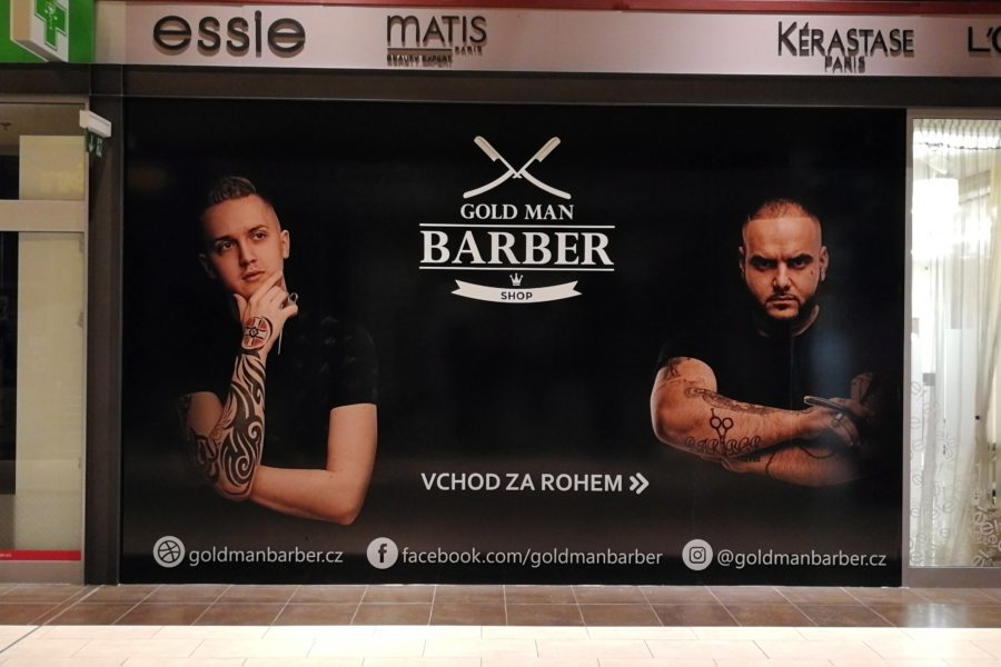 Výroba a instalace Barber shop